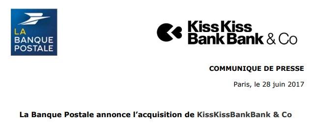 kisskissbankbank rachat